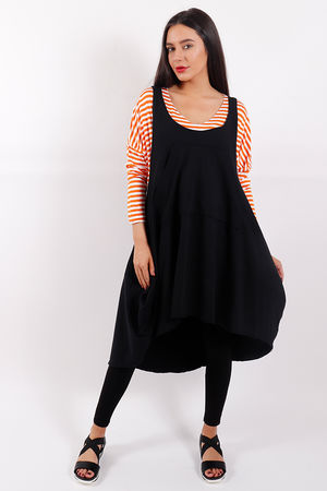 Copenhagen Pinafore Black