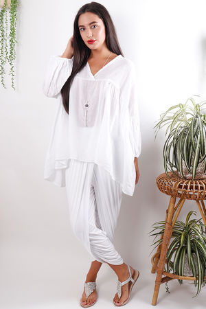 Cotton Smock White