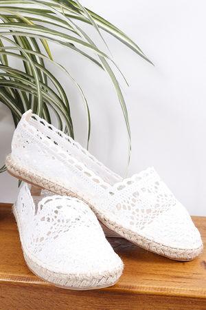 Crochet Espadrilles White