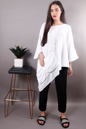 Cruise Oversized Dip Side Top Snow