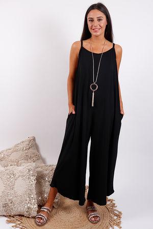 Culotte Jumpsuit Black