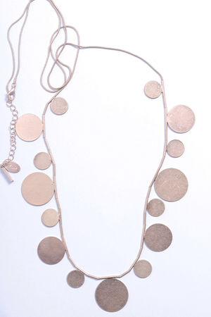 Desert Disk Necklace Gold