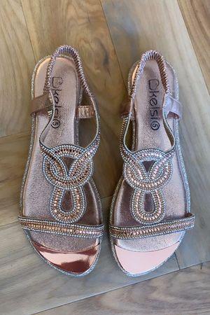 Diamante Knot Sandals Rose