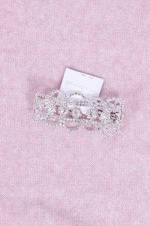 Diamante Silver Statement Bracelet Silver