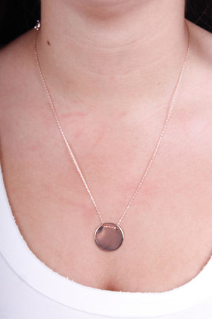 Disc Necklace Rose Gold