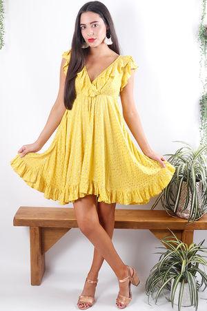 Dot Frill Dress Sunshine