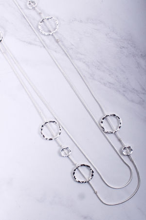 Double Layer Circle Necklace