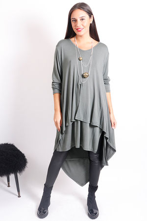 Double Layer Kite Tunic Khaki