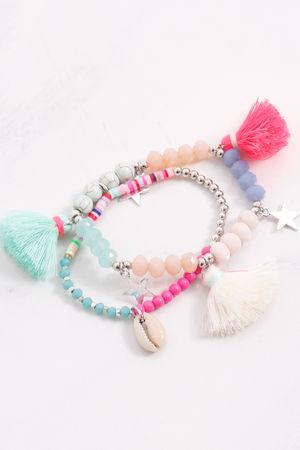 Double Tassel Bracelet Colour Pop