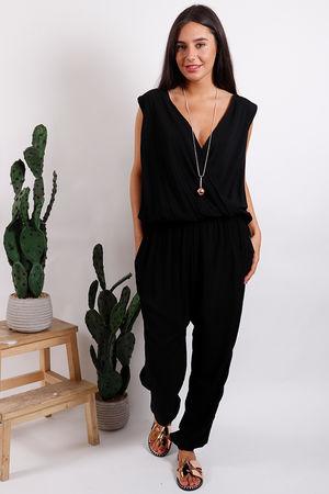 Drop Waist Jumpsuit Black