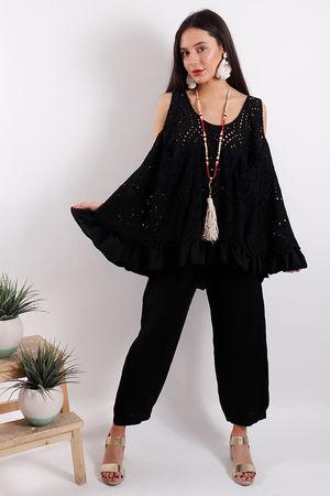 Eivissa Brodie Swing Vest Black