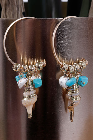 Eivissa By Oceane Horn Shell Earrings