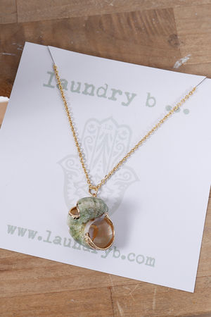 Eivissa By Oceane Moon Shell Necklace