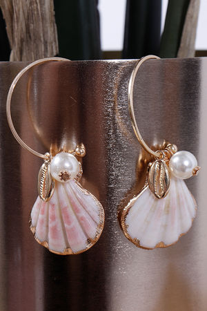 Eivissa By Oceane Scallop Shell Earrings