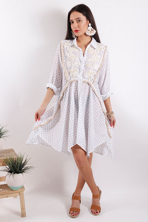 Eivissa Handkerchief Shirt Dress