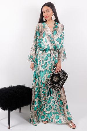 Eivissa Snake Dress Emerald