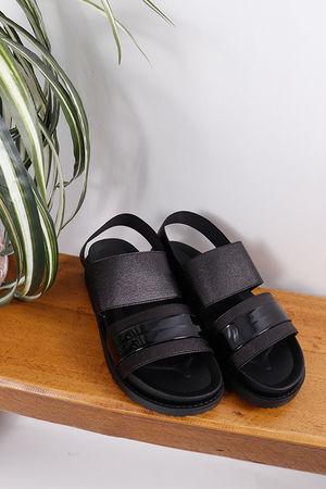 Elasticated Sandals Black