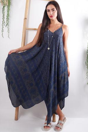 Elephant Handkerchief Dress Graphite