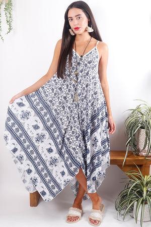 Elephant Handkerchief Dress White *Pre Order*