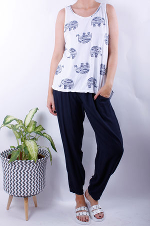 Elephant Print Vest