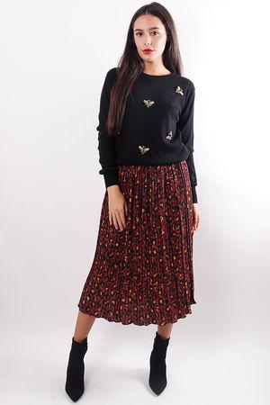 Embellished Bee Knit Black