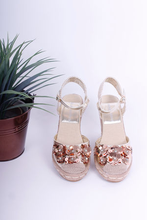 Embellished Espadrille Wedges