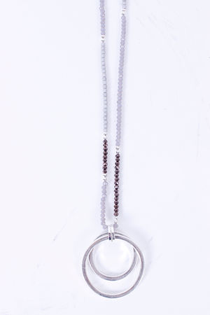Envy Beaded & Silver Double Circle