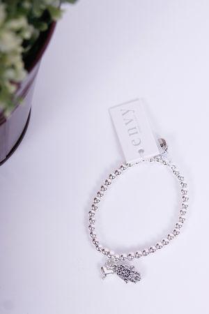 Envy Hasma & Heart Bracelet Silver