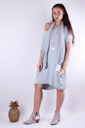 Fallon Flighty Fabric Dress Julep Grey