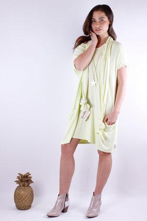 Fallon Flighty Fabric Dress Lemonade