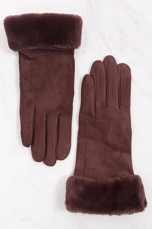 Faux Fur Cuff Gloves Chocolate