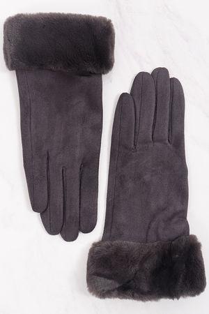 Faux Fur Cuff Gloves Slate