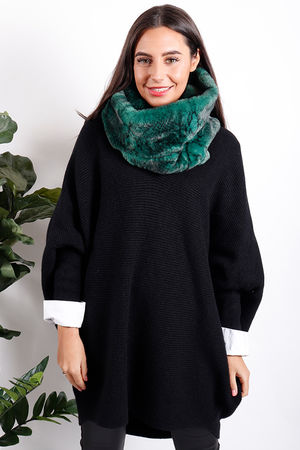 Faux Fur Snood Emerald Snake