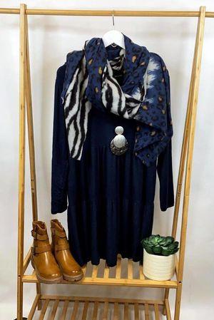 Fine Knit Marant Dress Navy