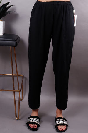 Fiona Pull On Trousers Black