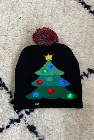 *** Flashing *** Christmas Tree Bobble Hat