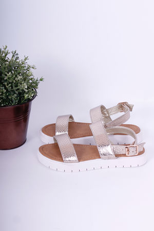 Flatform Sandals Gold