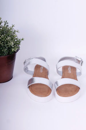 Flatform Sandals Silver