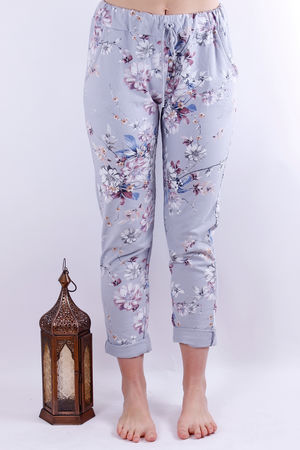 Floral Joggers Dove