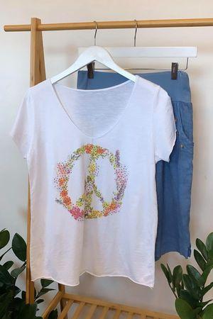 Floral Wreath Peace Tee