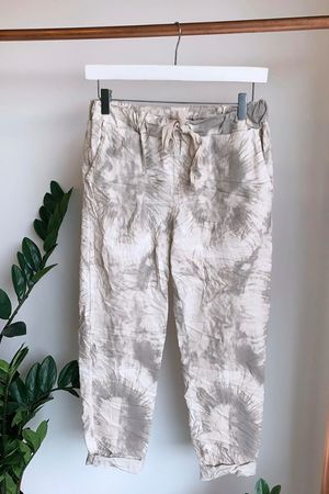 Fossil Crinkle Joggers Stone