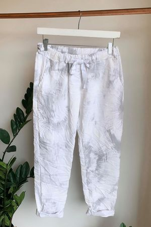 Fossil Crinkle Joggers White