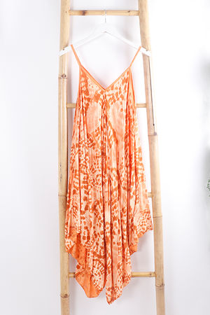 The Fossil Handkerchief Dress Tangerine