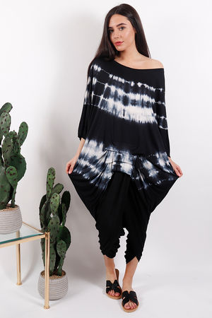 Fossil Oversized Ruche Top Black