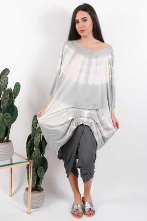Fossil Oversized Ruche Top Dove