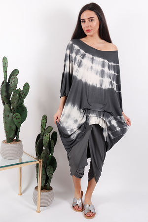 Fossil Oversized Ruche Top Slate