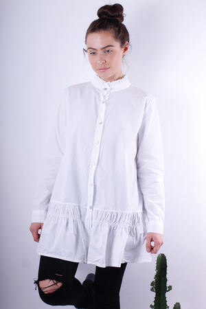 Frill Collar & Bottom Tunic White
