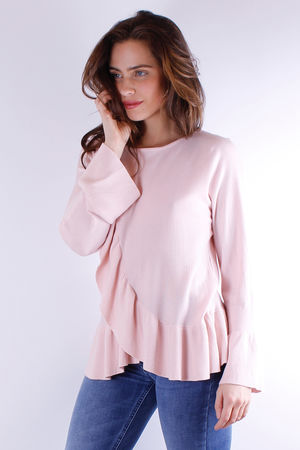 Frill Detail Knit Rose Quartz
