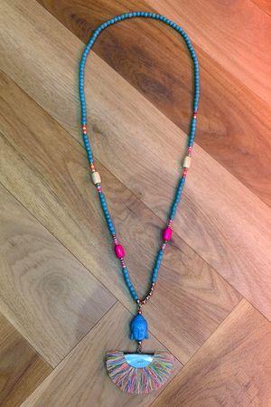 Fringed Beaded Buddha Necklace