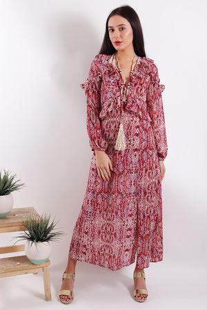 Glamorous Snake Slit Front Midi Dress
